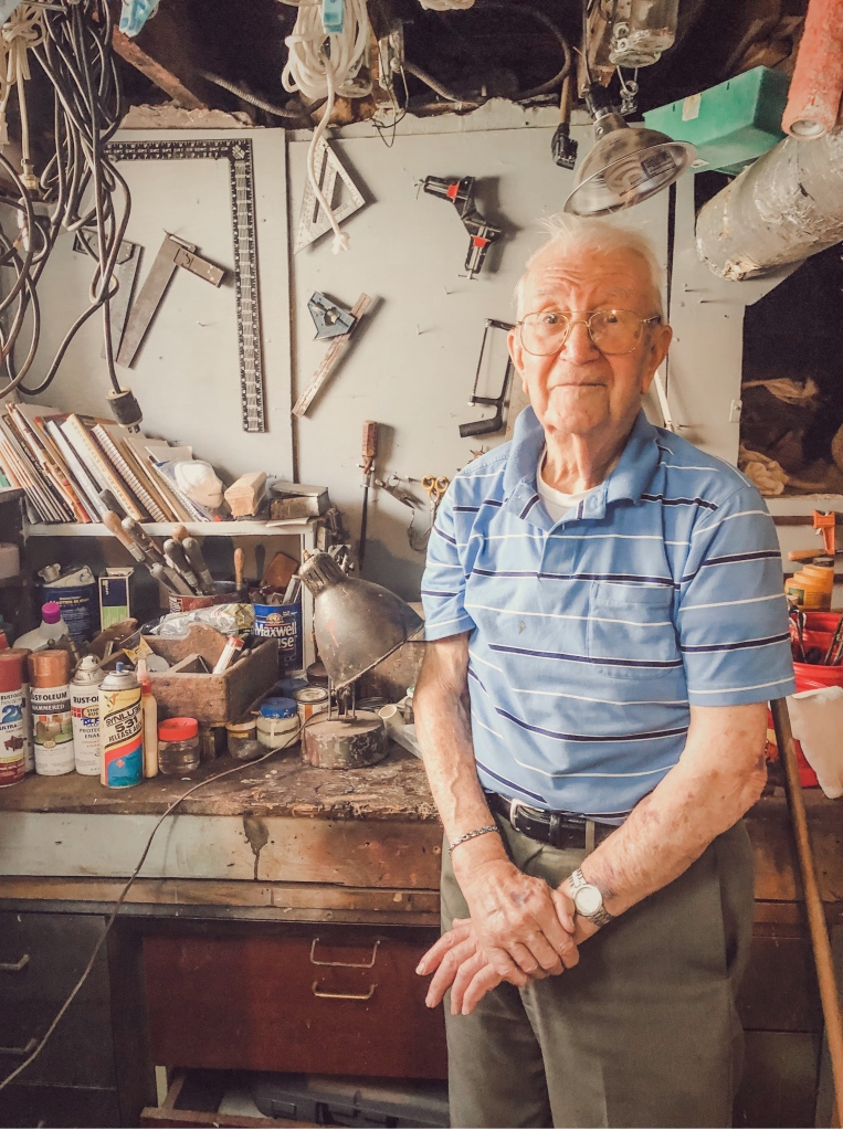 Pat D'Ambrosio in his workshop