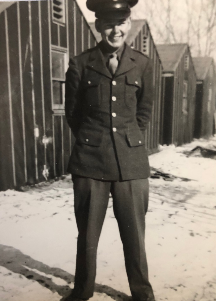 Victor Whippie in the Army in 1943.