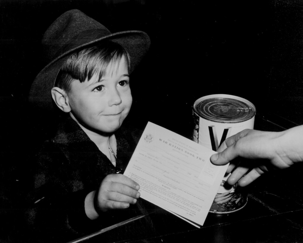A child learns about rationing in WW2