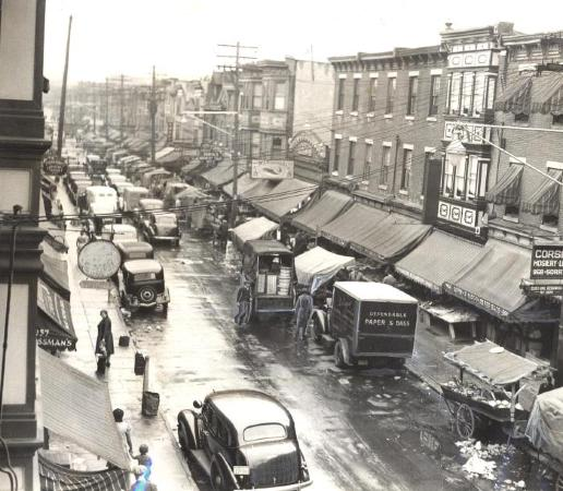 Marshall Street in Philly, 1930